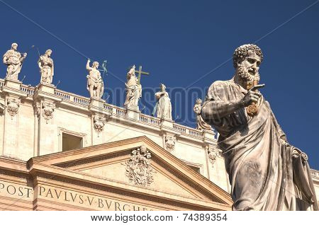 Monumental St. Peter's Basilica in Rome, Vatican, Italy