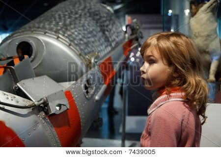 In an astronautics museum acquaint children with history