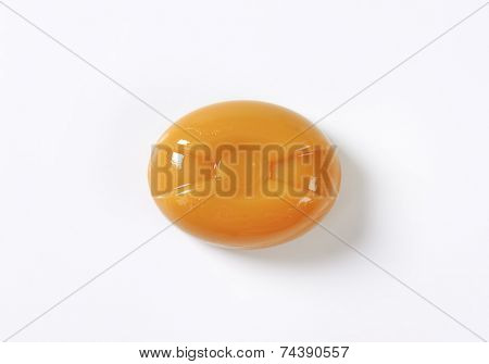 caramel candy on white background