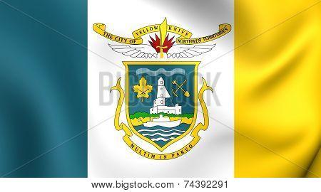 Flag Of Yellowknife, Canada.