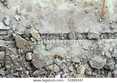 Soil And Cement As A Background - Used For Construction.