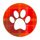 foto of flat-foot  - foot red flat icon isolated  - JPG