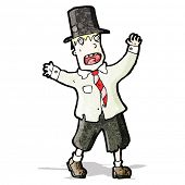 image of hobo  - cartoon crazy hobo - JPG