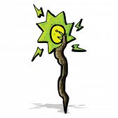 foto of clip-art staff  - cartoon magic staff - JPG