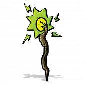 image of clip-art staff  - cartoon magic staff - JPG