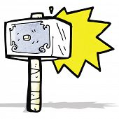 stock photo of thors hammer  - cartoon hammer of thor - JPG