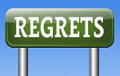 stock photo of apologize  - regret or no regrets saying sorry and offer apologize being ashamed for bad decisions  - JPG