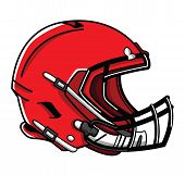 picture of football helmet  - helmet football Editable  - JPG