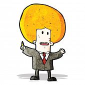 picture of ginger man  - cartoon ginger man in suit - JPG