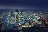 image of london night  - City of London At Sunset - JPG