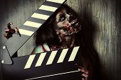 stock photo of doomsday  - Filming a horror movie - JPG