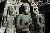 picture of jainism  - Ellora  - JPG