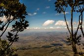 picture of canaima  - View from the plateau Roraima to Gran Sabana region  - JPG