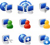 stock photo of internet icon  - various web and internet icons - JPG