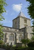 stock photo of church-of-england  - Saint Nicholas Church at Arundel in West Sussex - JPG