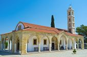 stock photo of larnaca  - The Saint George Kontos church is the pearl of medieval architecture of Cyprus Larnaca Cyprus - JPG