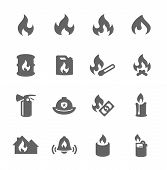 picture of ignite  - Simple Set of Fire Related Vector Icons for Your Design - JPG