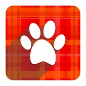 picture of flat-foot  - foot red flat icon isolated  - JPG