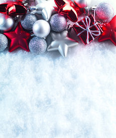 stock photo of christmas  - Winter and Christmas background - JPG