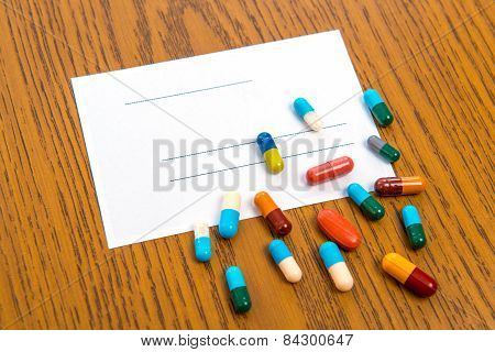Prescription With Colorful Pills