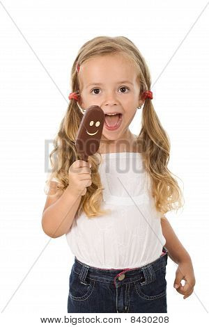 Little Girl With Icecream
