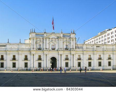 People Visit The Palacio De La Moneda In Santiago, Chile