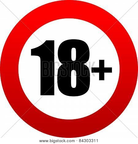 18+ Age Restriction Sign