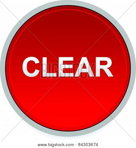 Illustration Of A Red Button With Word Clear.