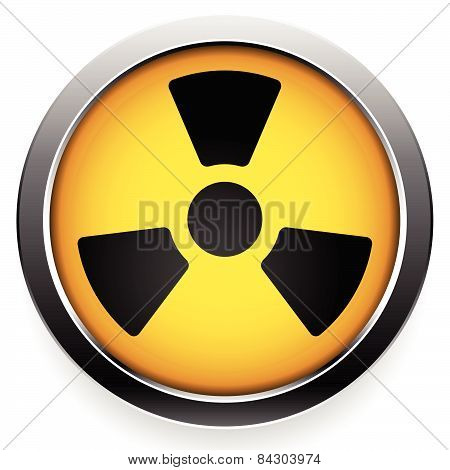 Radioactive Symbol. Radiation Icon.