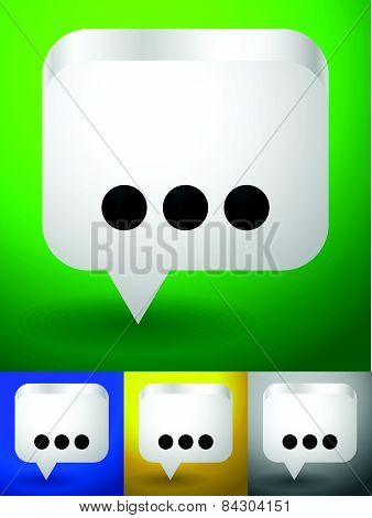 Speech, Talk Bubble Vector Graphics, Icons.