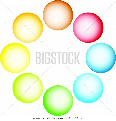 Shaded Circles, Spheres On White. Vector. Eps 10.
