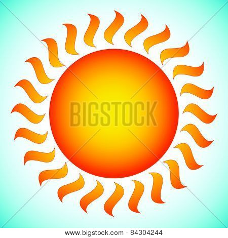 Illustration Of Sun. Sun Clip-art In Vector Format.