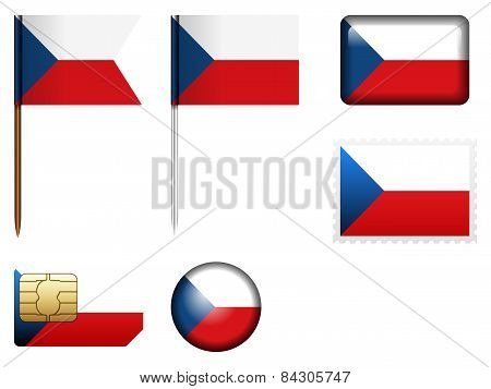 Czech Republic Flag Set
