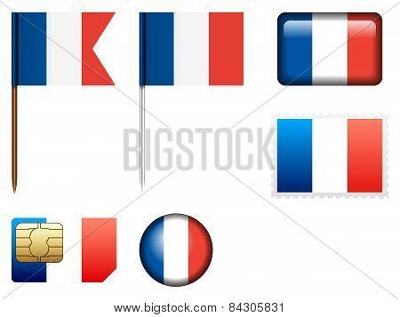 France Flag Set