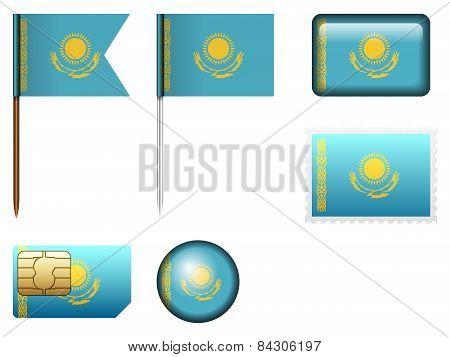 Kazakhstan Flag Set