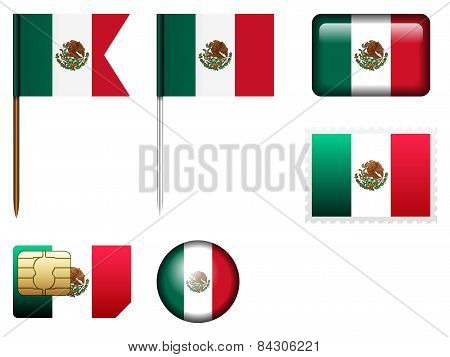 Mexico Flag Set