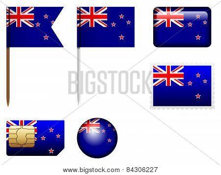 New Zealand Flag Set
