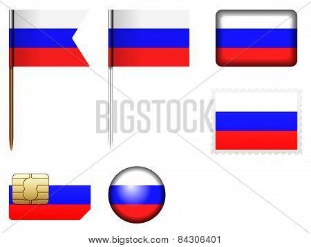 Russia Flag Set