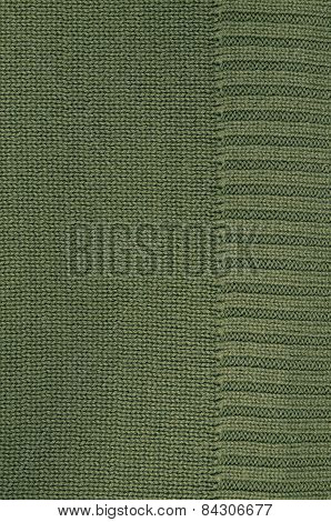 Green Knitted Background Pattern, Detail, vertical
