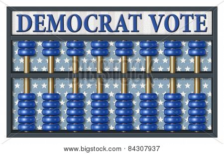Democrat Election Abacus