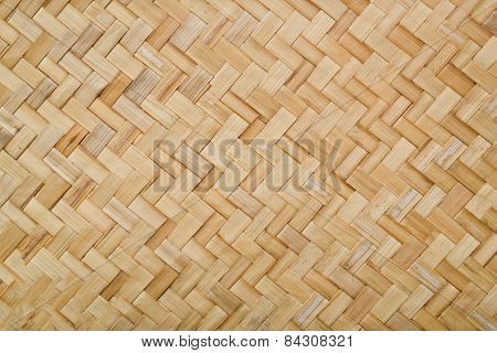 Woven Rattan With Natural Patterns, Vintage Wall.