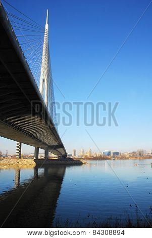 Ada Bridge Tower In Belgrade, Serbia