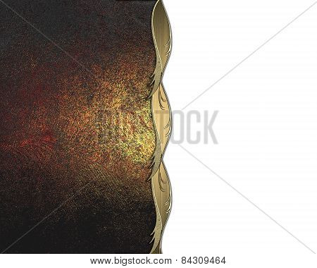 Old Red Texture With Gold Scuffed. Design Template