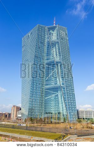 New Seat Of The European Central Bank In Frankfurt