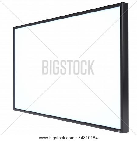 White blank screen monitor LSD
