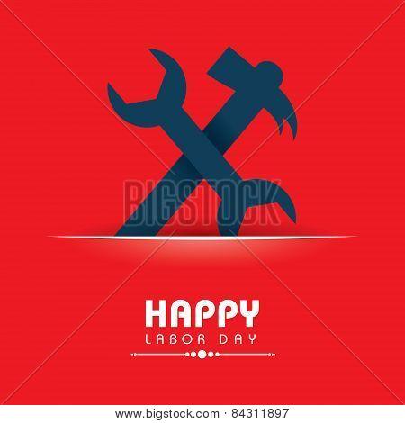 Creative happy labor day