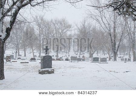 Wintery Cemetary
