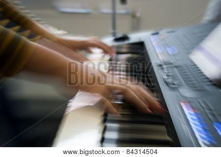 keyboard playing