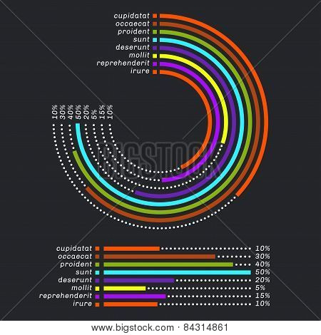 Colored Lines Infographics With Footnote