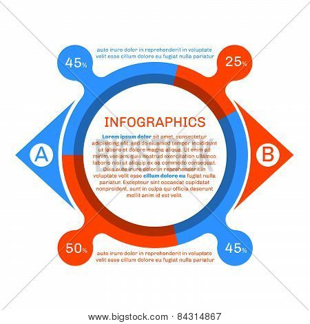 Round Infographics With Percentage.